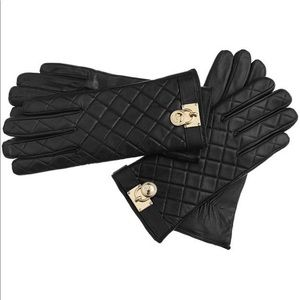 Michael Kors Quilted Leather Hamilton Lock Gloves